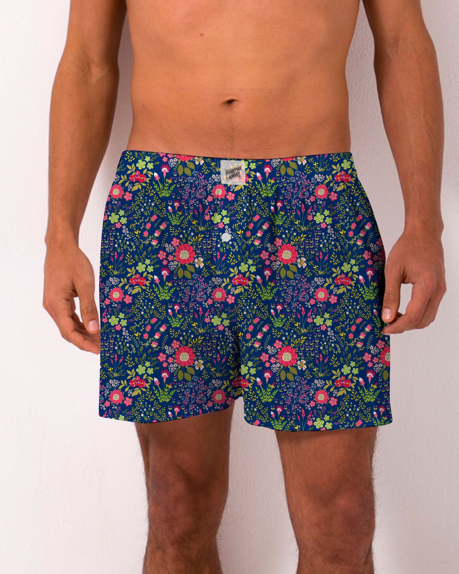 Boxer Shorts Dipsy Red Floral - Woodstock Laundry