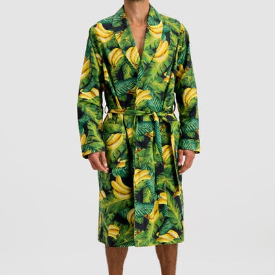Mens Gown Bananas On Leaves - Woodstock Laundry