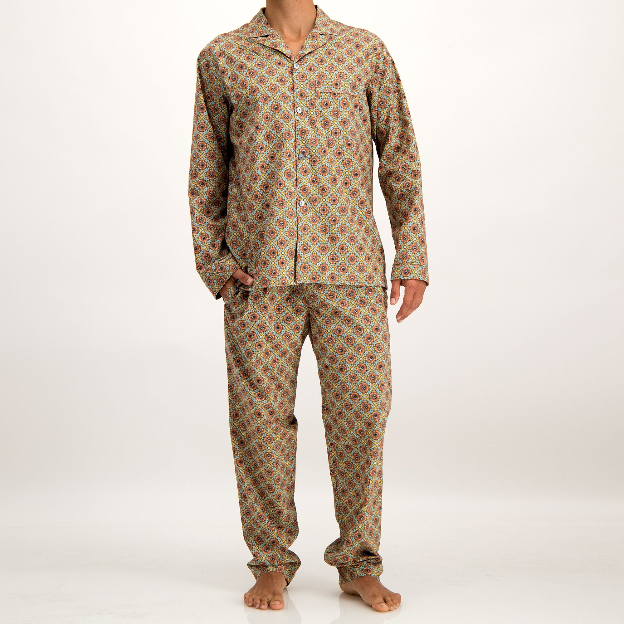 Mens Long Pyjamas Funky Disco - Woodstock Laundry