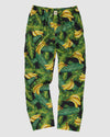 Mens Lounge Pants Bananas On Leaves Front - Woodstock Laundry