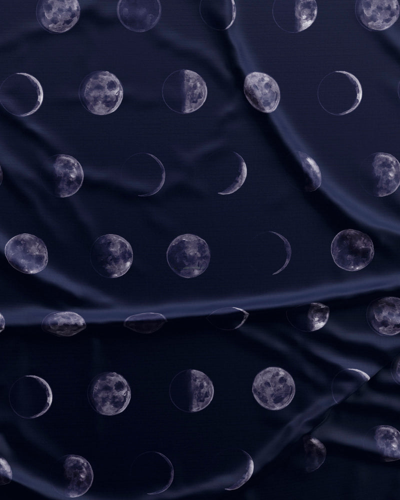 Womens Long Pyjamas Moons