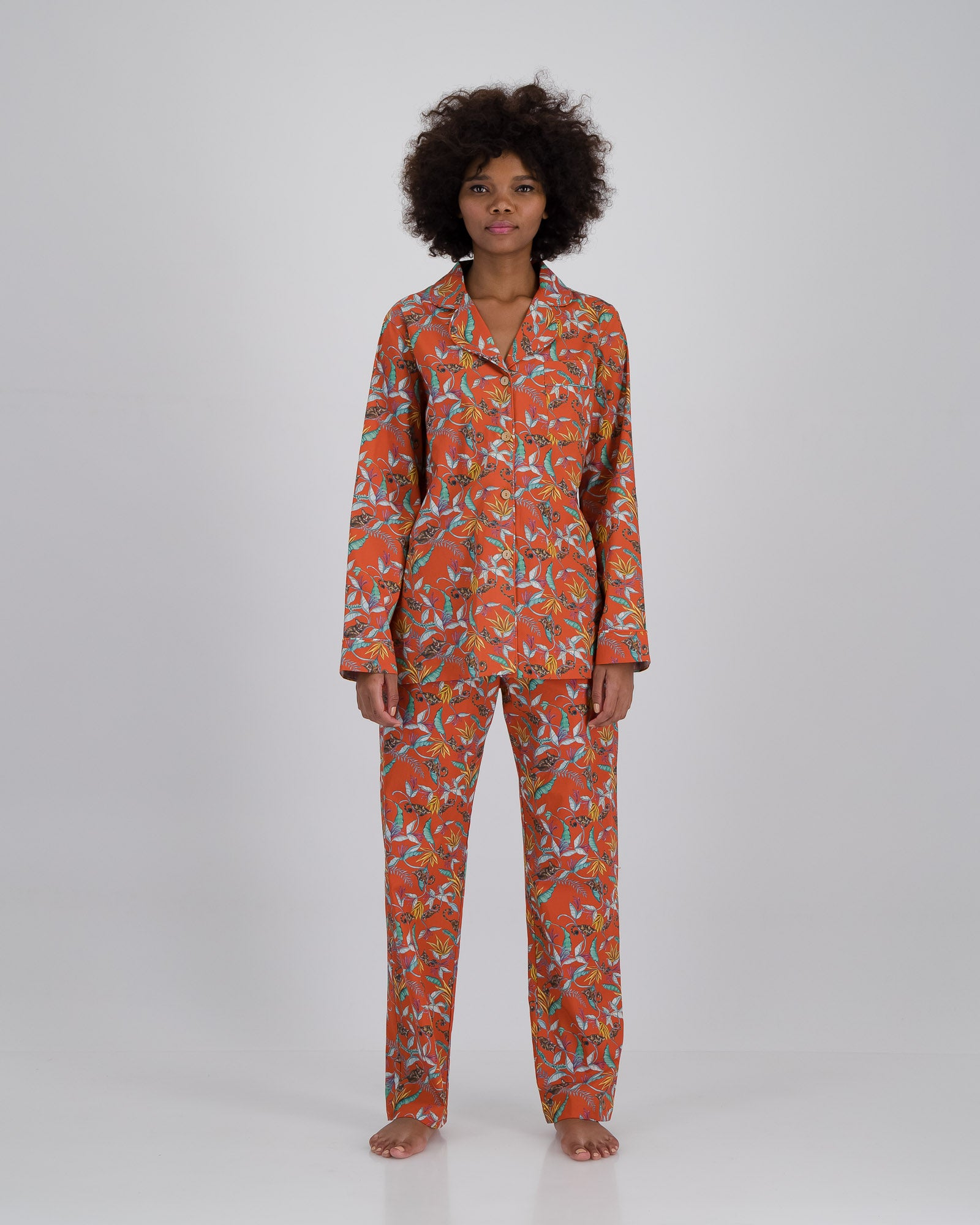 Womens Long Pyjamas  Nag Apies Orange