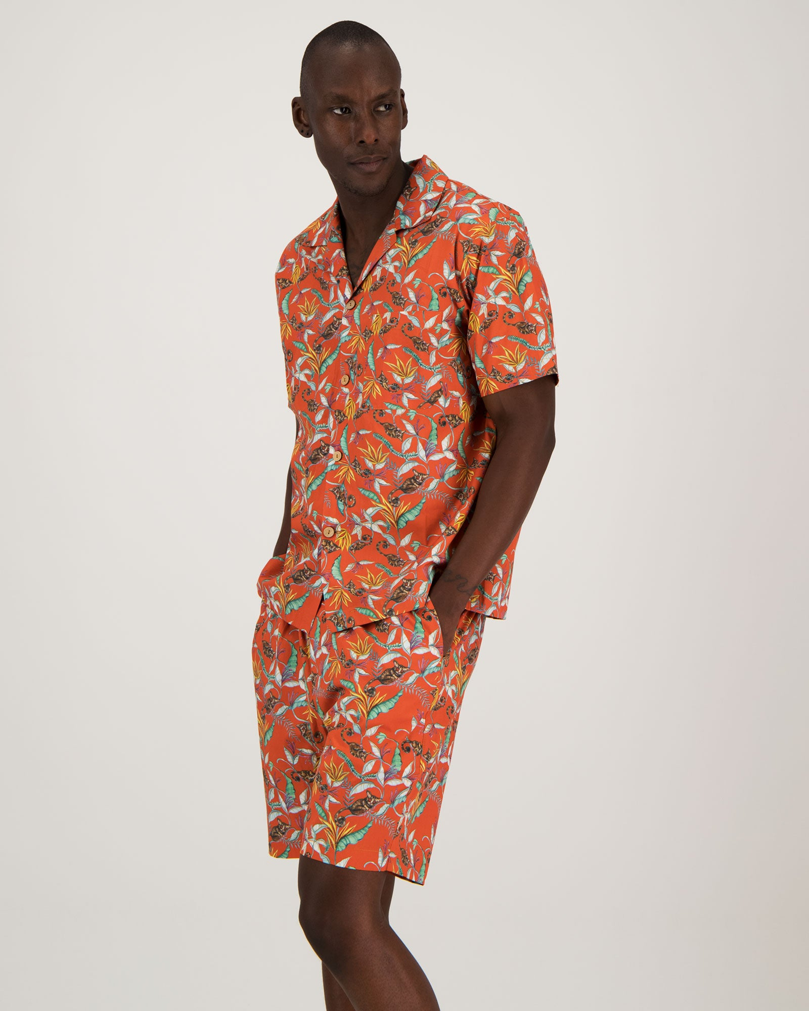 Mens Short Pyjamas - Nag Apies Orange