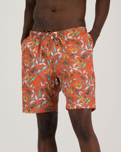 Mens Lounge Shorts - Nag Apies Orange