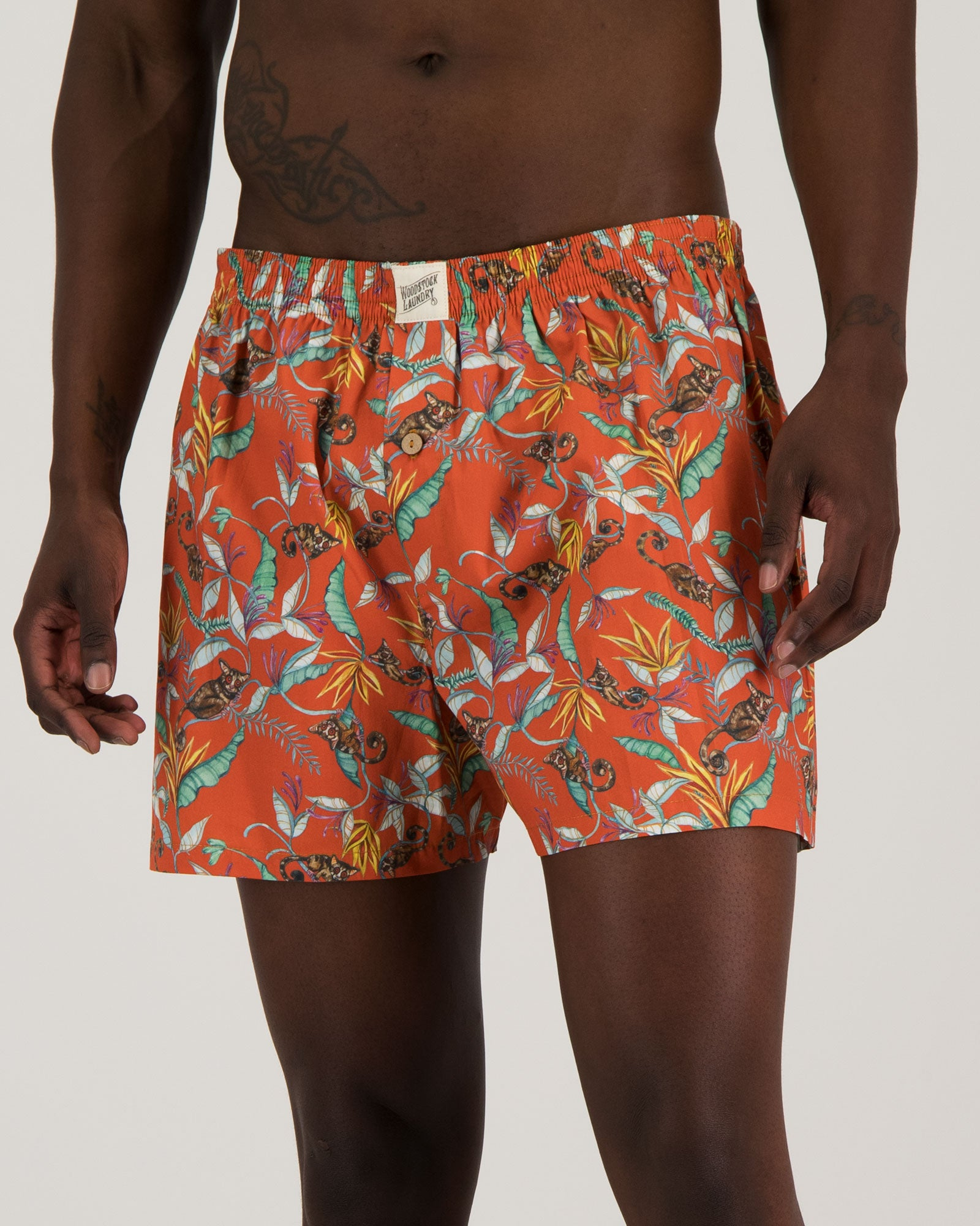 Mens Boxer Shorts - Nag Apies Orange