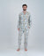 Mens Long Pyjamas Nag Apies White