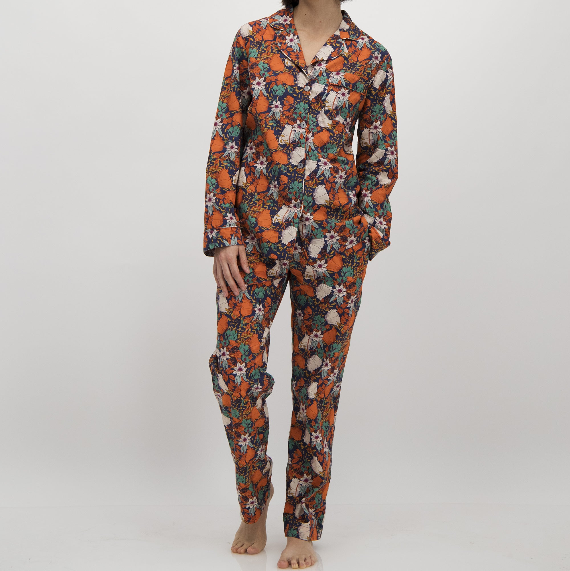 Womens Long Pyjamas Madison Square Garden - Woodstock Laundry
