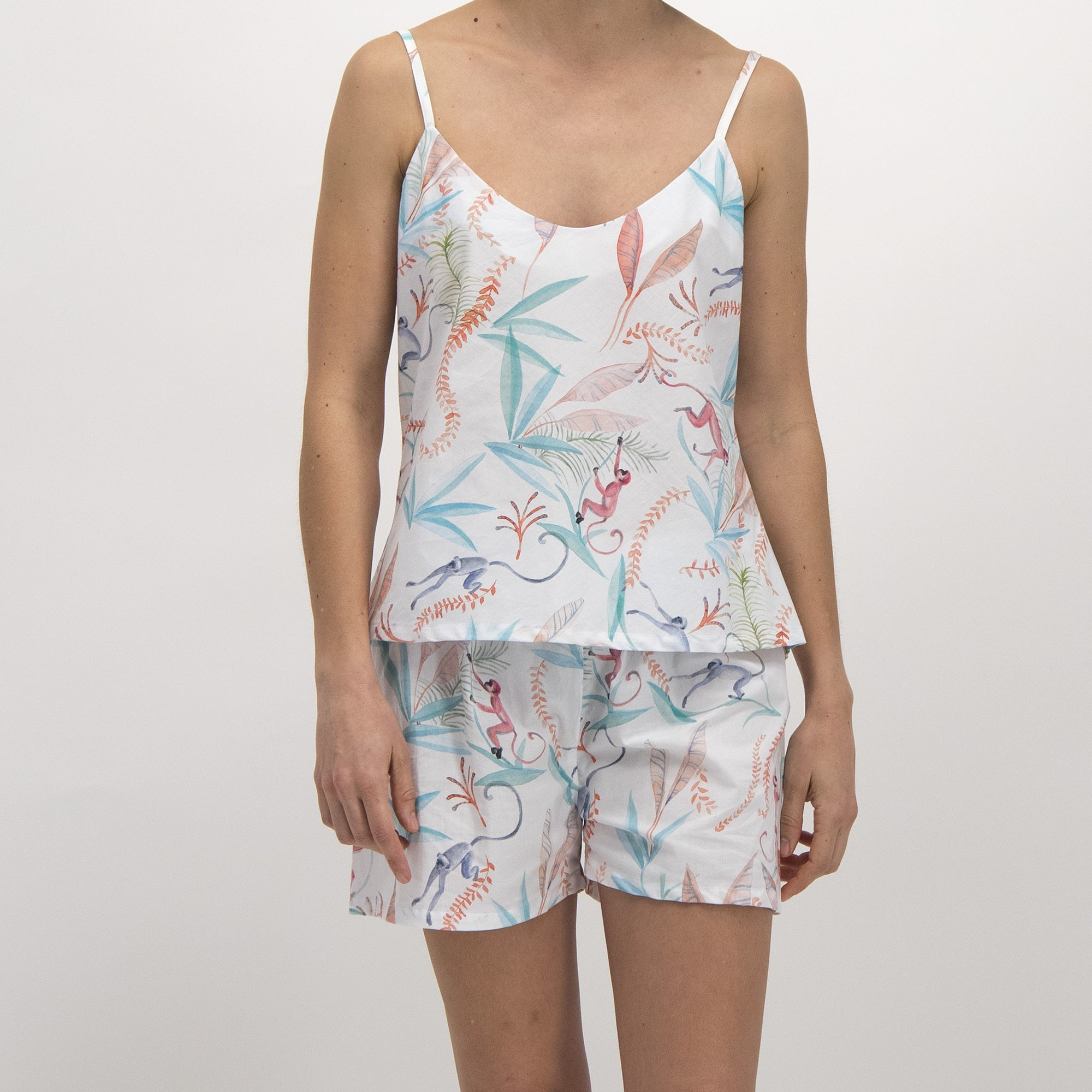 Womens Camisole Pyjamas Monkeys - Woodstock Laundry