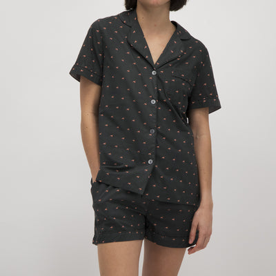 Womens Short Pyjamas Flamingos - Woodstock Laundry