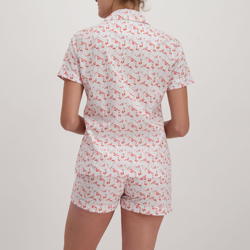 Womens Short Pyjamas Flamingo-Flamenco Pink