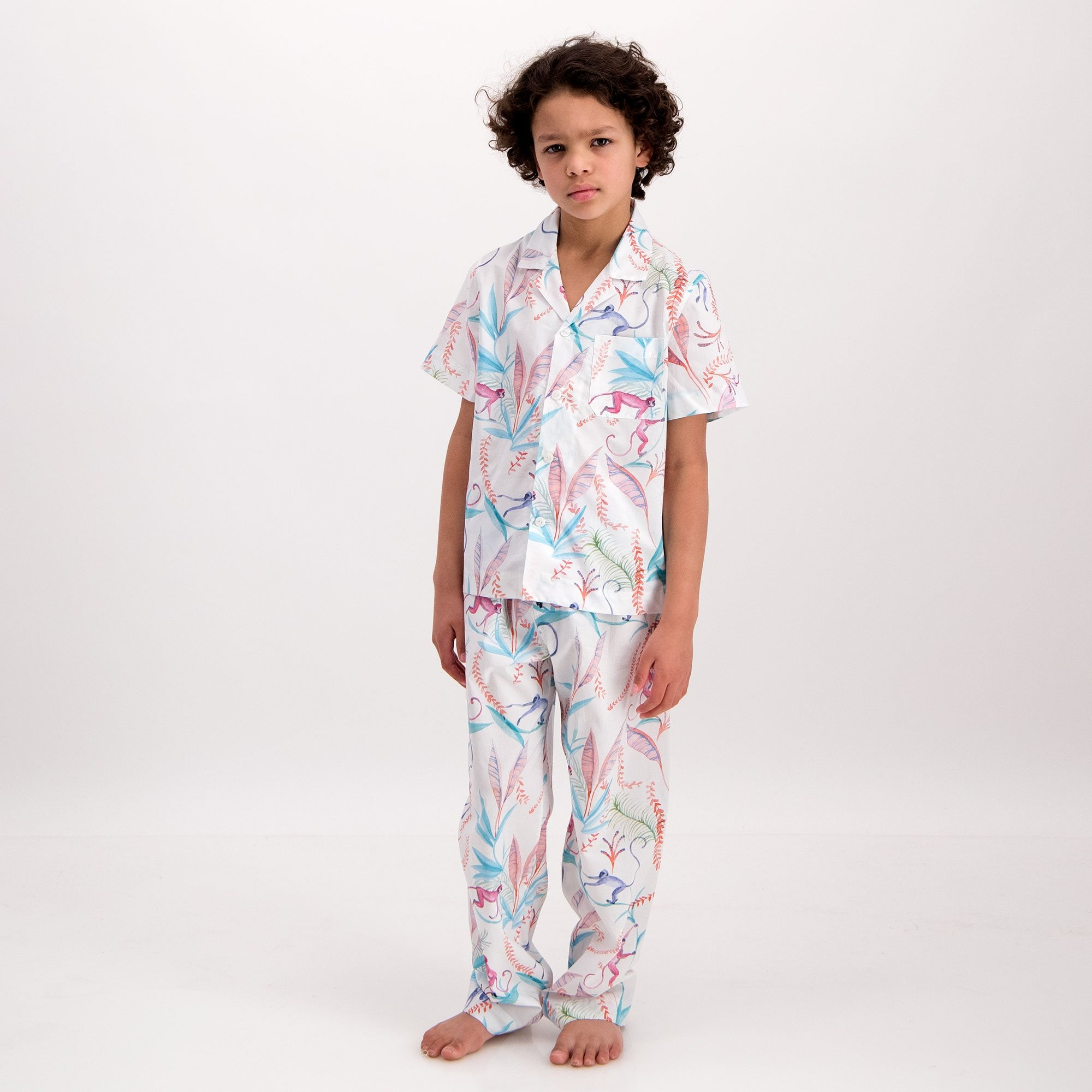 Boys Long Pyjamas Monkeys - Woodstock Laundry