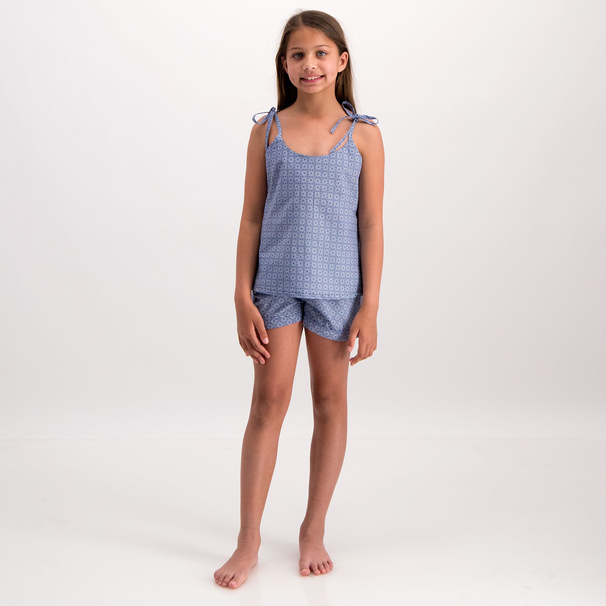 Girls Camisole Pyjamas Albert Flower - Woodstock Laundry