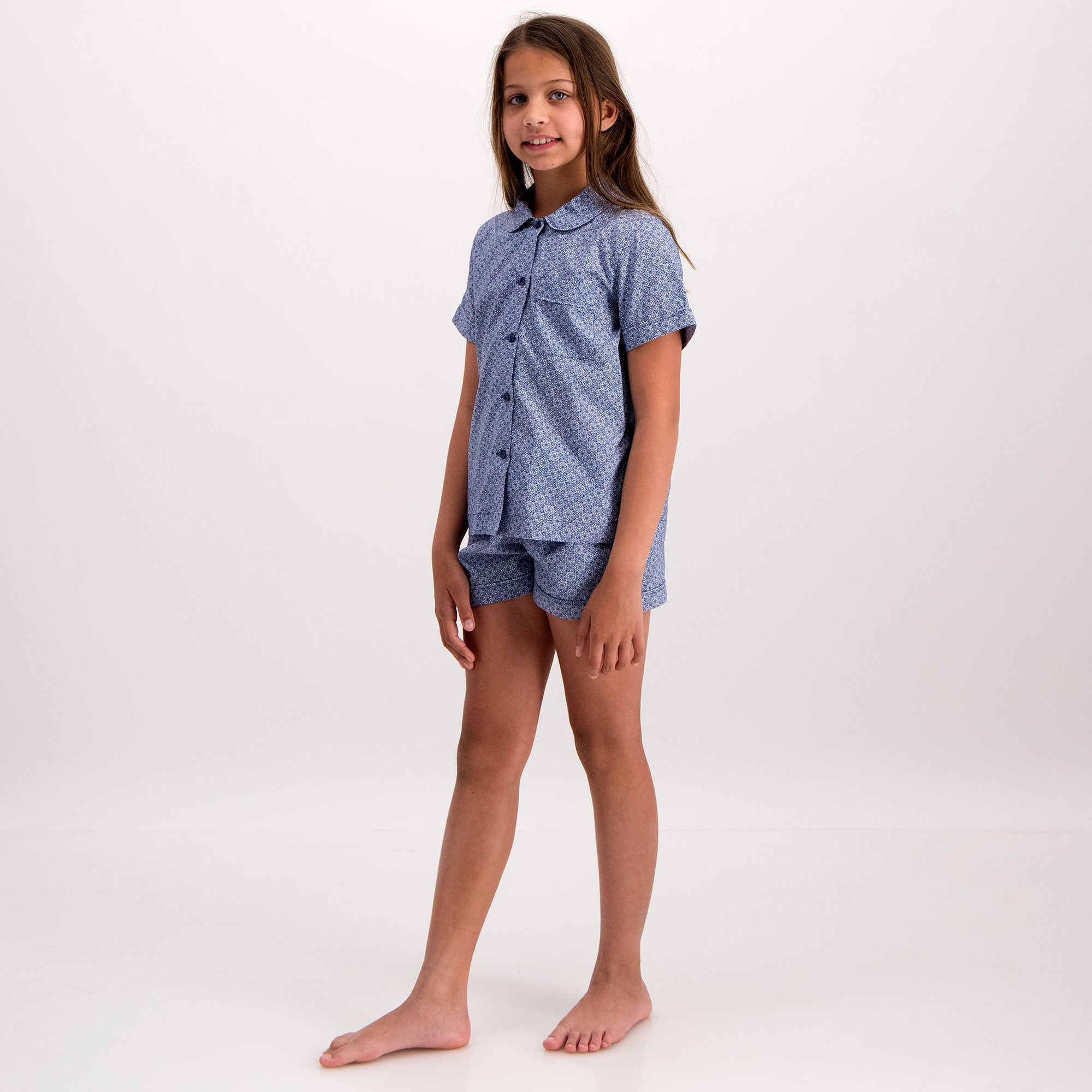 Girls Short Pyjamas Albert Flower - Woodstock Laundry