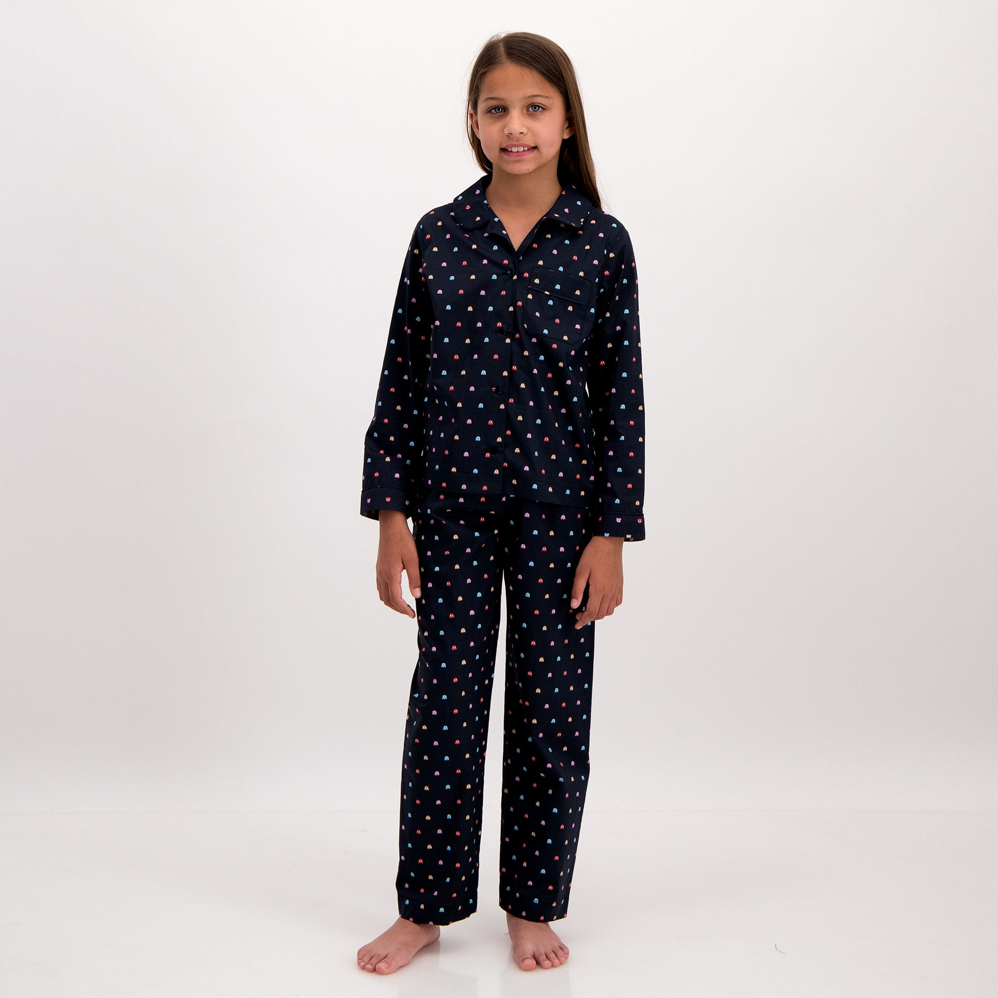 Girls Long Pyjamas P-Ghost - Woodstock Laundry