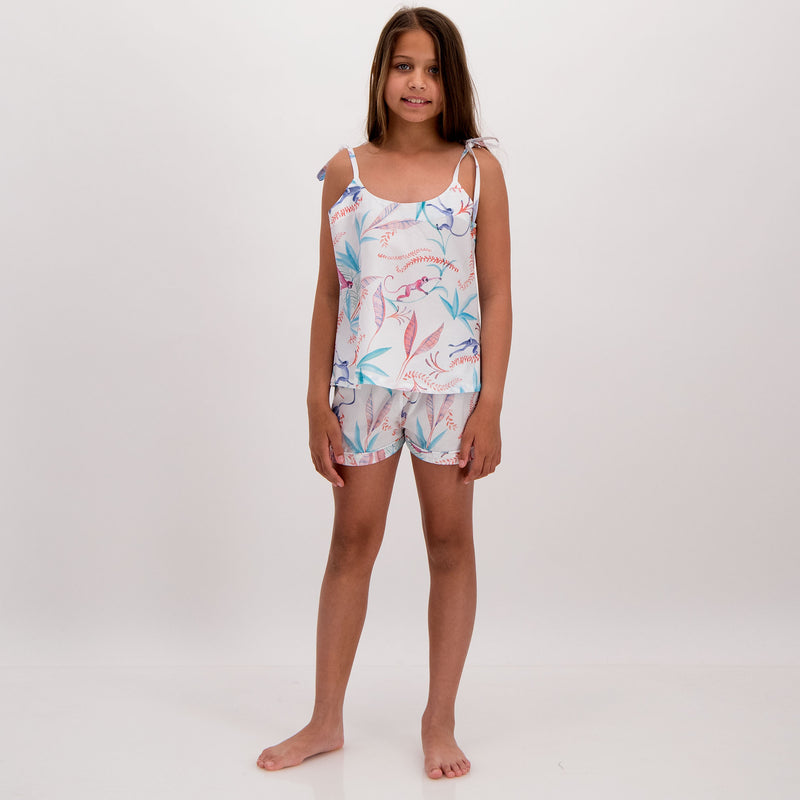Girls Camisole Pyjamas Monkeys - Woodstock Laundry