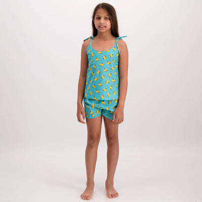 Girls Camisole Pyjamas Bananas - Woodstock Laundry