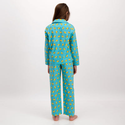 Girls Long Pyjamas Bananas - Woodstock Laundry
