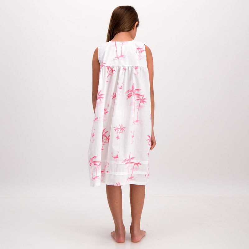 Girls Nighty Pink Palm - Woodstock Laundry