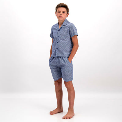 Boys Short Pyjamas Albert Floral - Woodstock Laundry