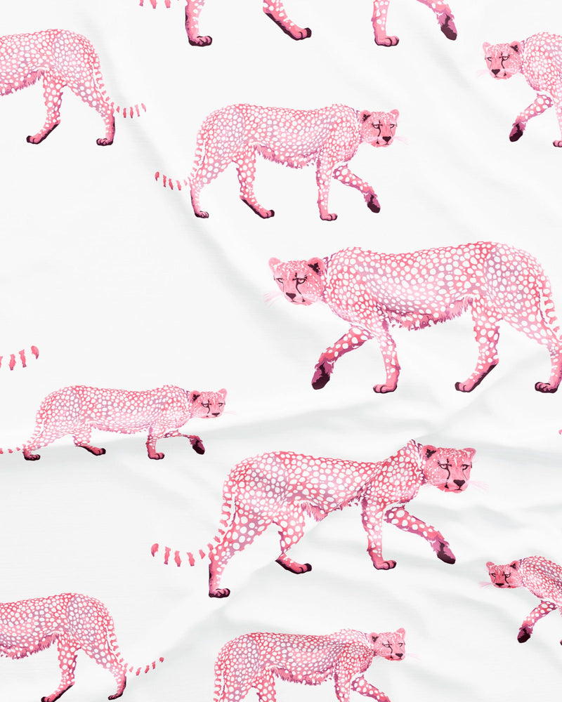 Mens Long Pyjamas Pink Cheetahs