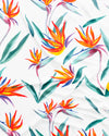Strelitzia White Pattern Detail - Woodstock Laundry