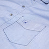 Traditional Sleep Shirt Chambray Light Blue - Woodstock Laundry