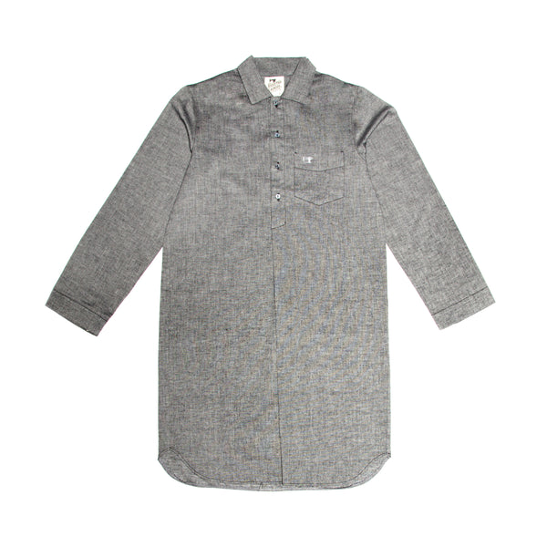 Traditional Sleep Shirt Chambray Light Charcoal