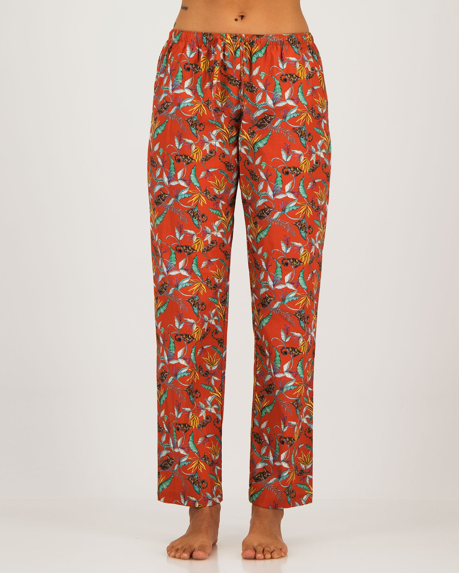 Womens Lounge Pants Nag Apies Orange