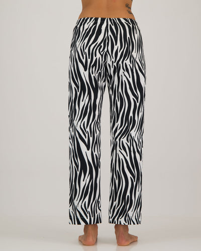 Womens Lounge Pants Zebra Back - Woodstock Laundry