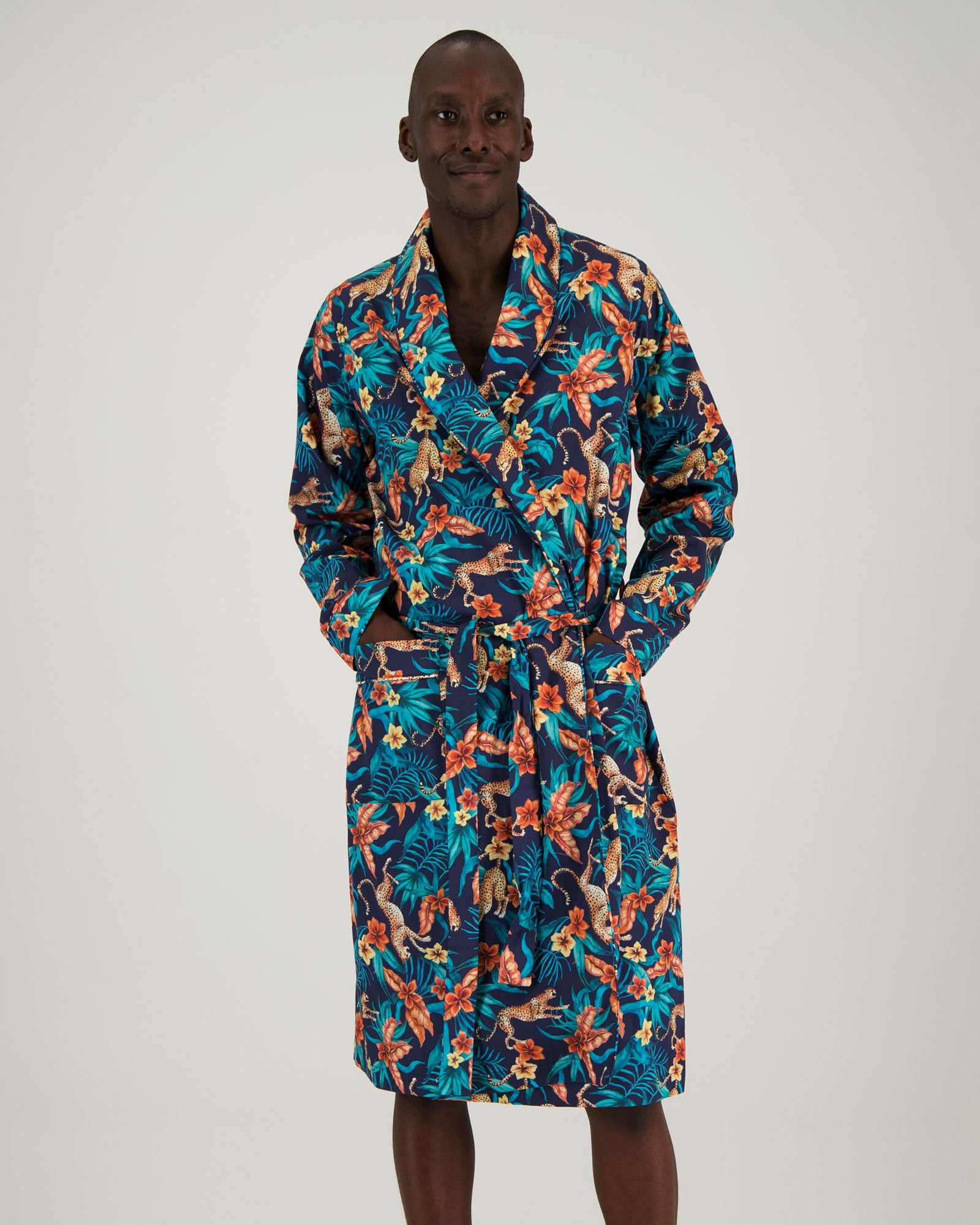 Mens Gown - Jungle Cheetahs Navy