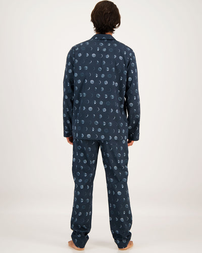 Mens Long Pyjamas Moons