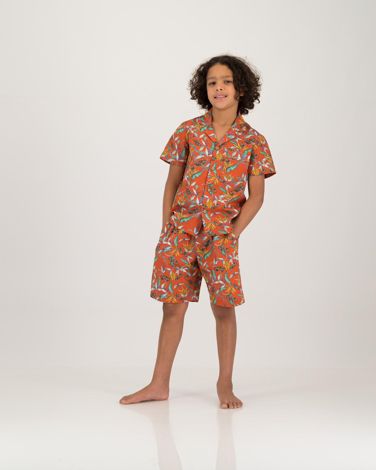 Boys Short Pyjamas Nag Apies Orange
