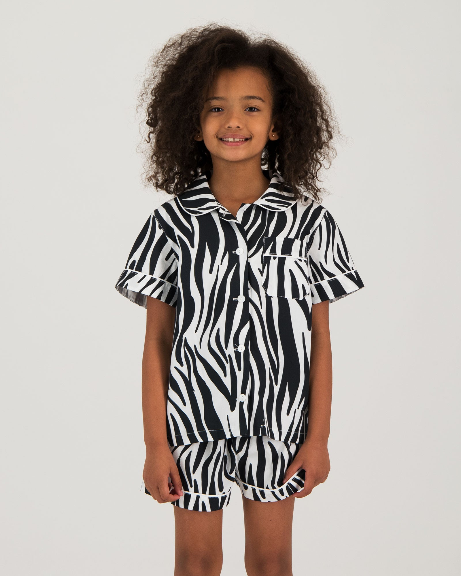 Girls Short Pyjamas - Zebra