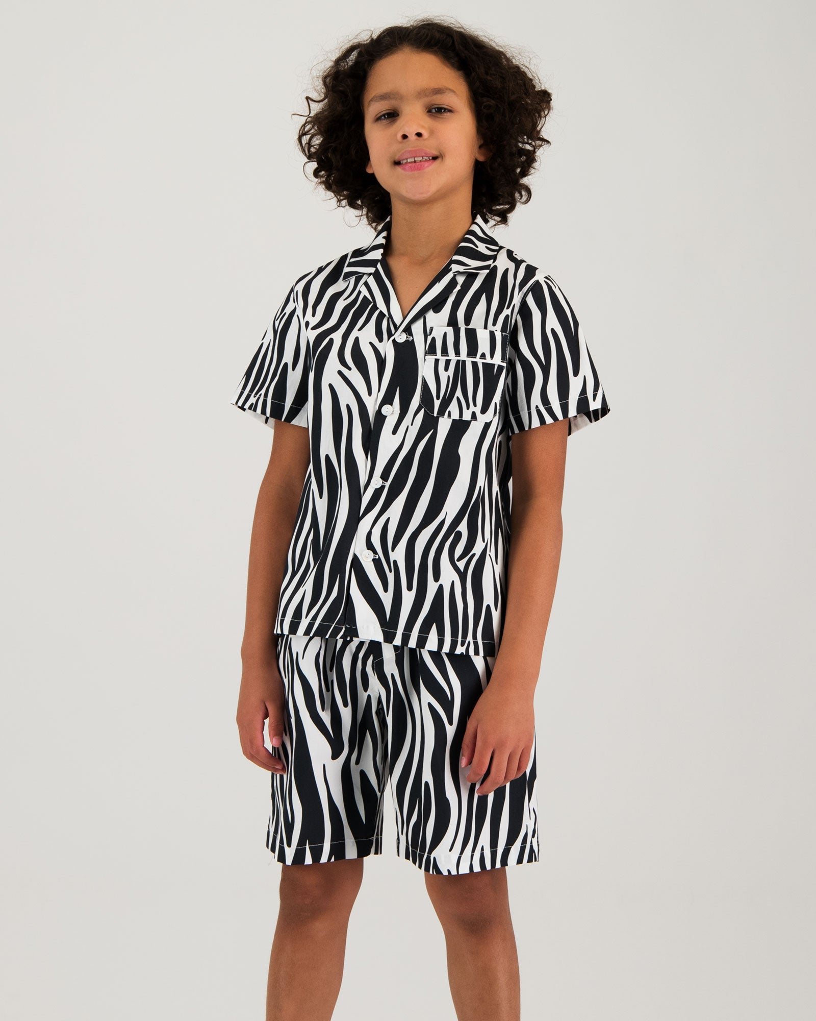 Boys Short Pyjamas - Zebra