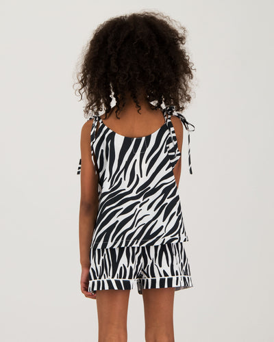 Girls Camisole Pyjamas - Zebra