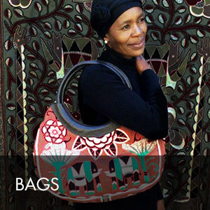 Buy African inspired fashion items such as hand bags, shoulder bags, gaby bags and laptop bags online at Kaross. Free shipping on orders over $300.