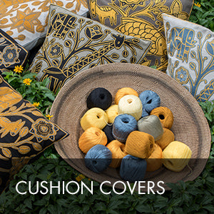 Buy hand embroidered cushion covers online at Kaross. We sell a wide range of unique African Art items locally and abroad. Free shipping on orders over $300.