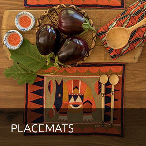 Buy hand embroidered place mats online at Kaross. We sell a wide range of unique African Art items locally and abroad. Free shipping on orders over $300.
