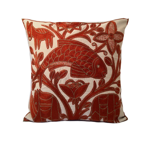 Namib Rust Flying Fish Monochrome Cushion Cover