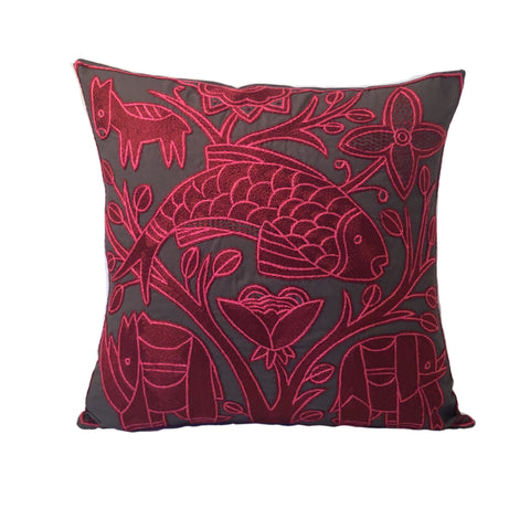 Shangaan Love Flying Fish Monochrome Cushion Cover