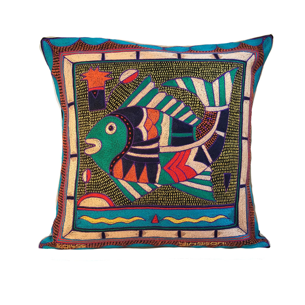 Happy Days Fish Cushion Cover