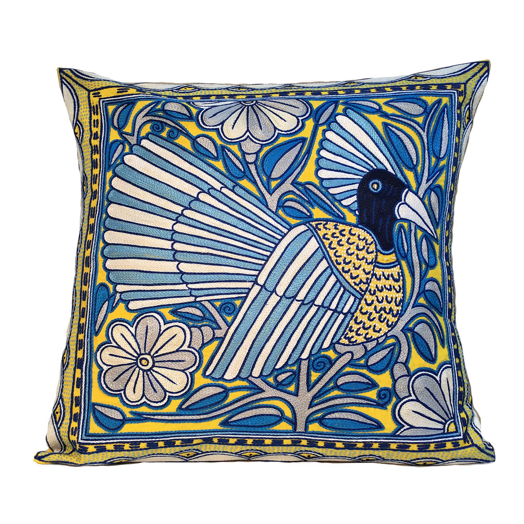 Delpht Resting Bird in a Tree Cushion Cover