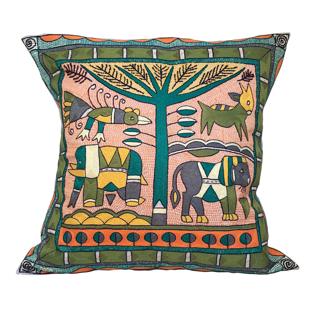 Bushveld Lush Lion Hunt Cushion Cover