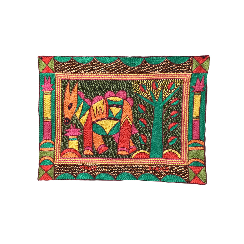 Shangaan Love Antelope Hand-Embroidered Unpadded Placemat