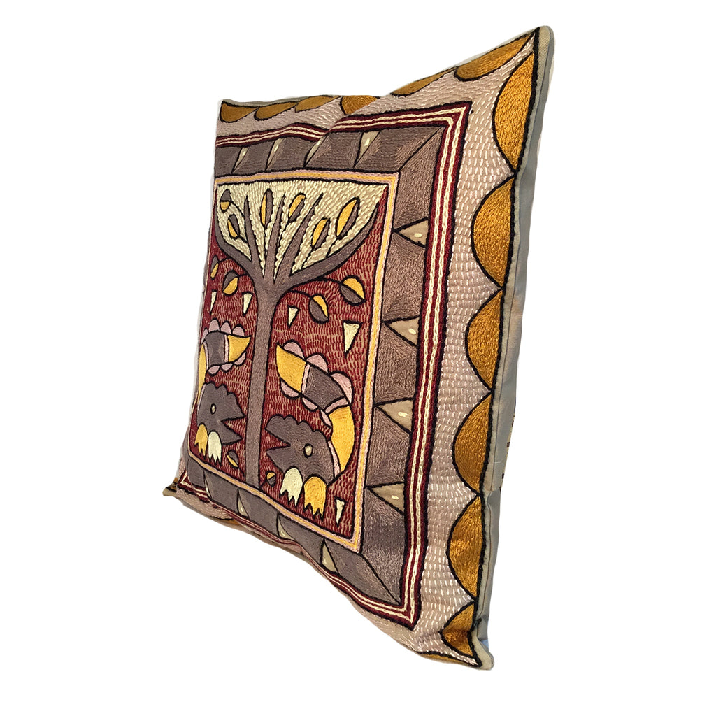 African Dawn Crocodile Love handmade Cushion Cover