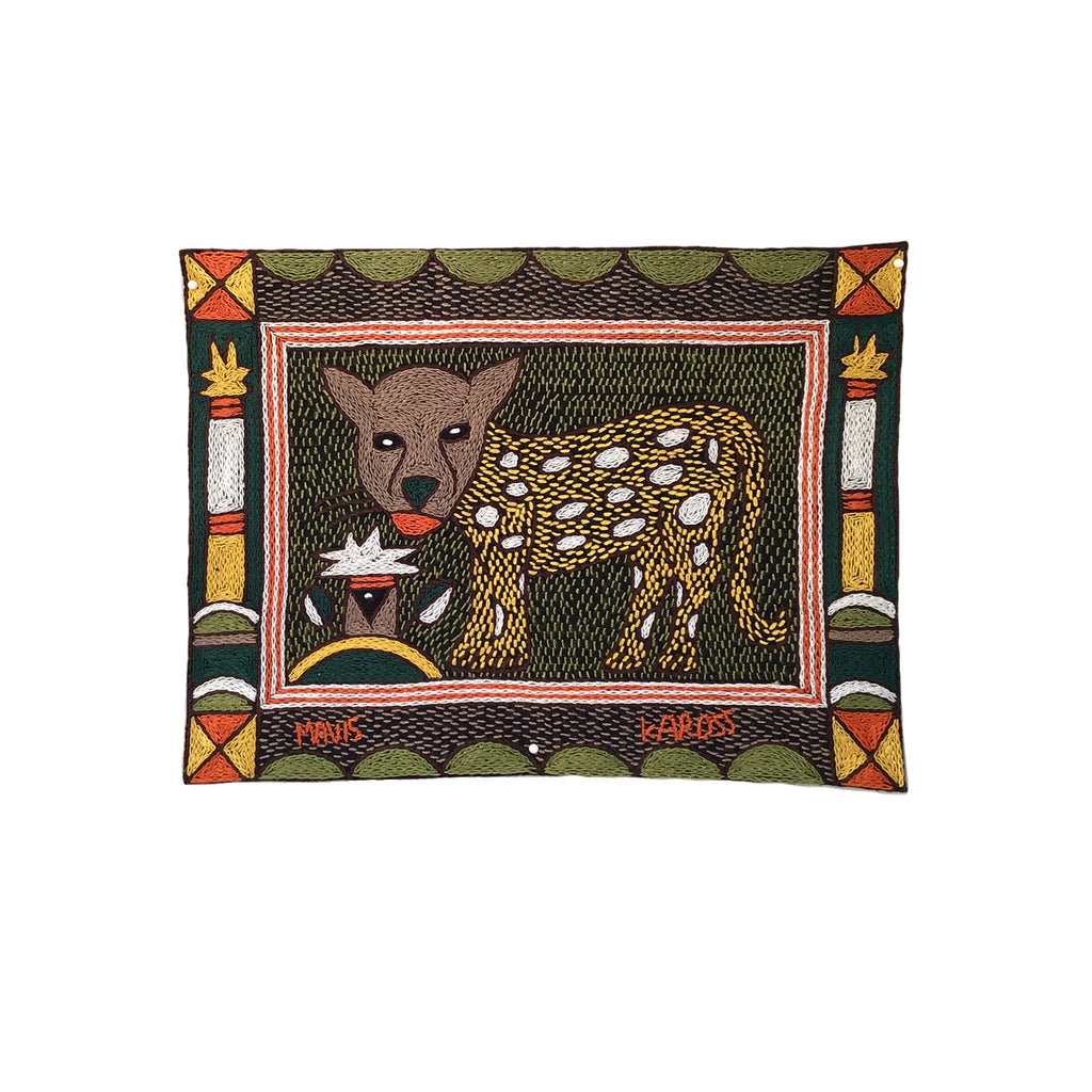 Bushveld Warmth Leopard Cub Unpadded Placemat