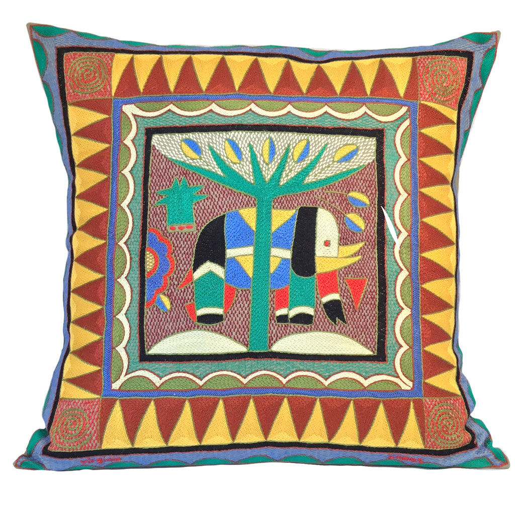 Viva Africa Large Elephant Cushion Cover