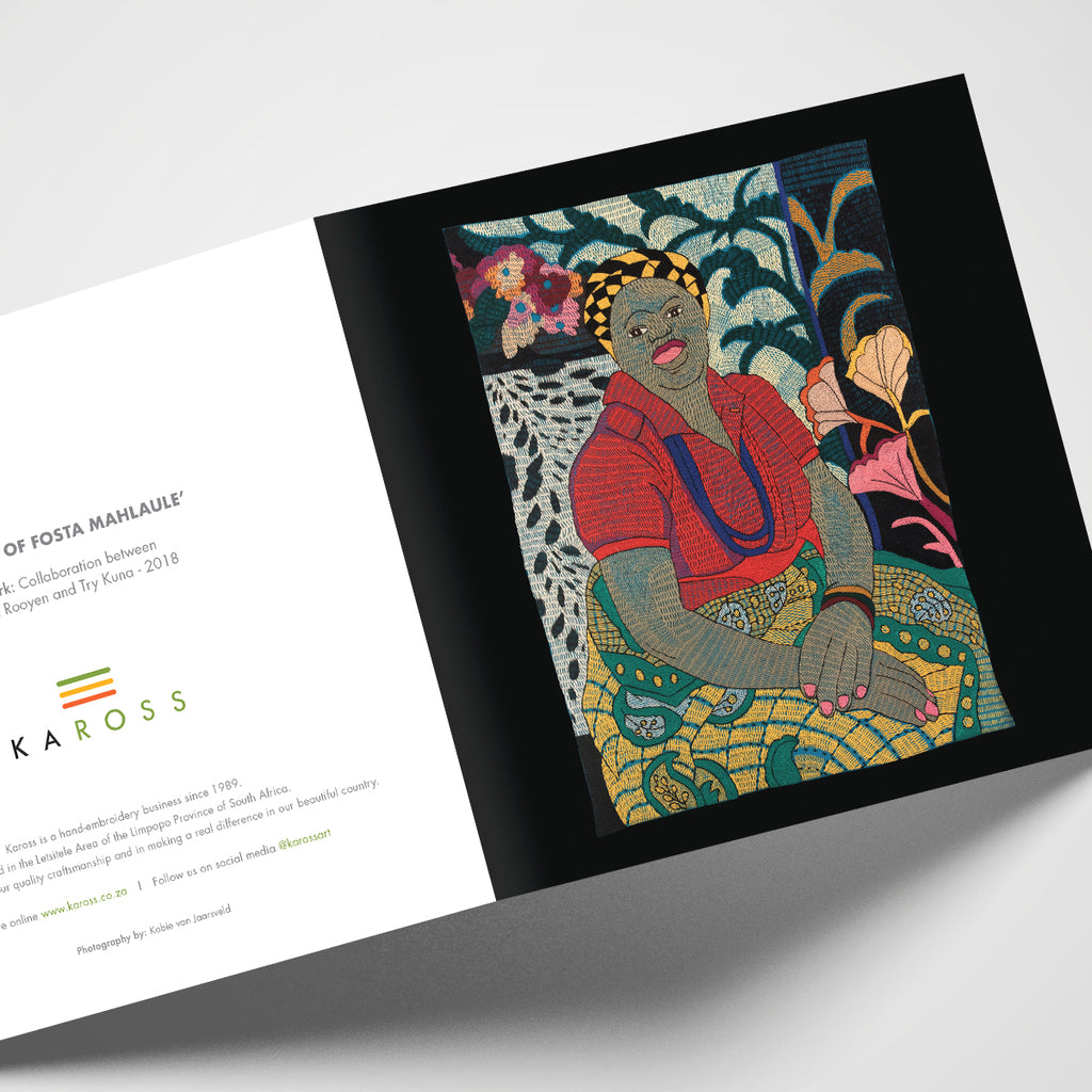 Kaross Printed Gift Cards; Portrait of Fosta Mahlaule