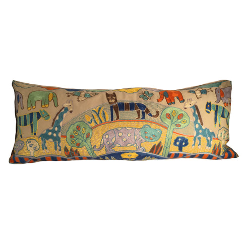 My Little Africa Cushion in Light Blue