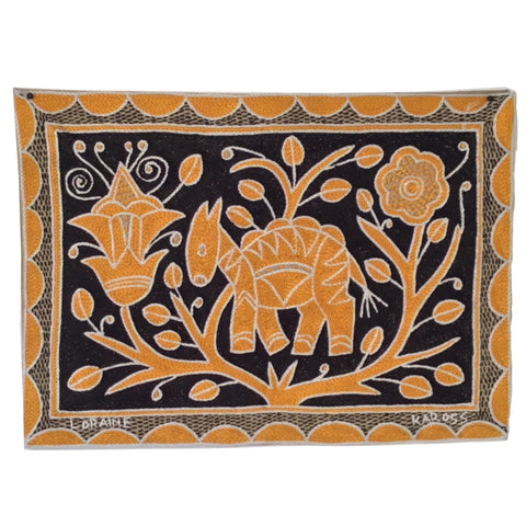 Ode to the African Savannah Antelope Dreaming More Monochrome Padded Placemat